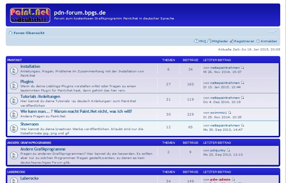 Screenshot pdn-forum.bpgs.de